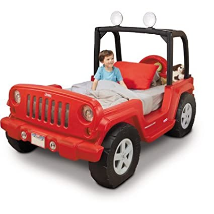 Amazon Com Jeep Toddler Bed Red Led Lights In Roll Bar Rotates