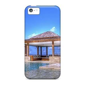 High Impact Dirt/shock Proof Case Cover For Iphone 5c (exotic Gazebo Bu An Infinite Pool)