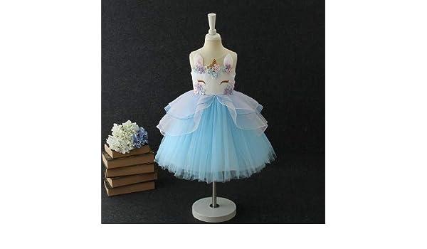 Amazon.com: Kids Rainbow Unicorn Dress for Girls Cosplay Prom Costume Children Princess Lac: Home Improvement