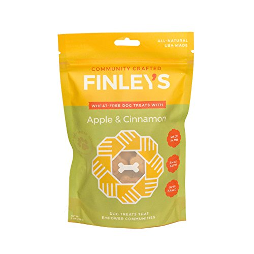 Cinnamon Flavor Small Dog Treats - Finley's Barkery Apple & Cinnamon Wheat-Free Dog Treats – Natural Limited Ingredient Crunchy Dog Biscuits Free of Corn & Soy (8 oz)