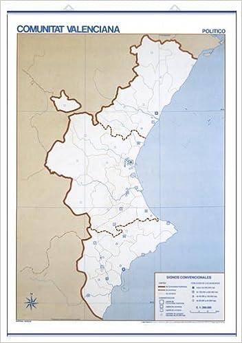 Mapa Mudo Comunidad Valenciana.Comunitat Valenciana F Sic Pol Tic Mapas Murales Mudos