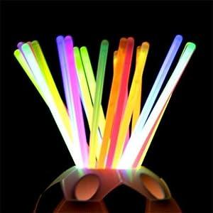 """100PC 8"""" Flexible Glow Light Party Concert Sticks Bracelet Necklace Multi Colors"""