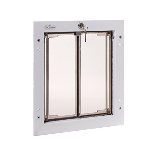 PlexiDor White Dog Door for Door Mounting - Energy Efficient Weatherproof Performance Pet Door with...