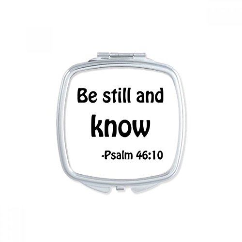 DIYthinker Be Still And Know Christian Quotes Square Compact Makeup Mirror Portable Cute Hand Pocket Mirrors Gift by DIYthinker