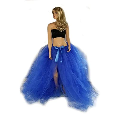 Discount Extra Long and Extra Fluffy Tulle Skirt with Built in Train