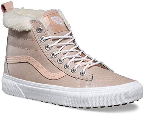 Vans Women's SK8-Hi MTE Skateboarding Shoes (10 M US Women / 8.5 M US Men, Metallic/Soft Pink) (Vans Women Boots)