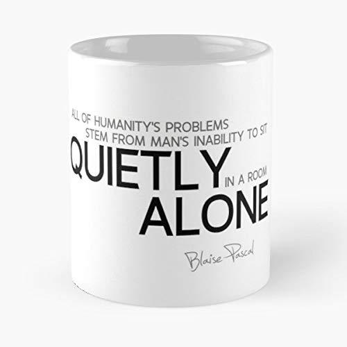 Blaise Pascal White Quot Coffee,tea Mugs - 11 ()