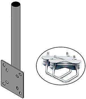 Hd Line Mast Verlängerung Wand Balkon Montage Mit Elektronik