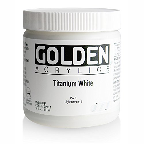 Acrylic - Golden Heavy Body Acrylics Titanium White 16oz jar
