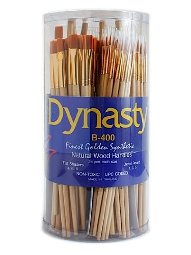 Dynasty B-400 Golden Synthetic Brushes in Canister canister of 144 by Dynasty