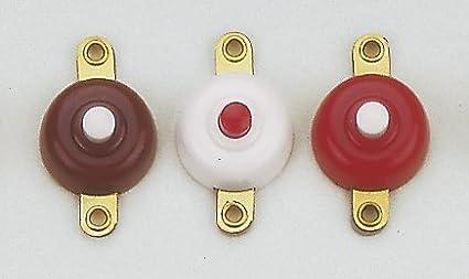 Klingeltaste rund wei/ß Taster rot