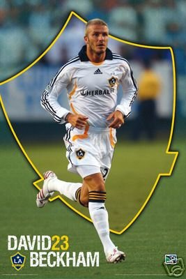 e63010d4b Image Unavailable. Image not available for. Color  MLS David Beckham Poster La  Galaxy 23 ...
