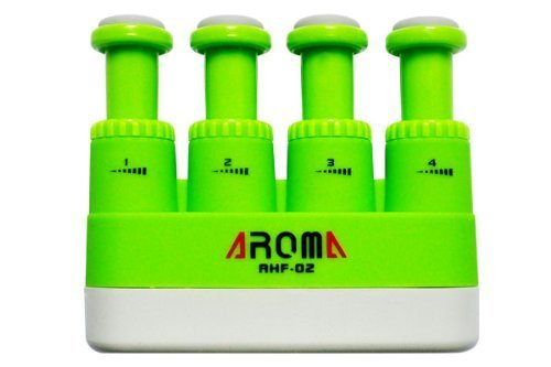 Aroma AHF-03 Adjustable Finger Strengthener and Hand Exerciser for Guitar, Piano,Music Practice, Athletes or Therapy (Green) Review