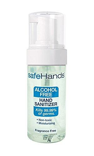 SafeHands #1 Alcohol Free Foam Hand Sanitizer Brand, Fragrance Free, 1.75 (Alcohol Safe)