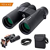 Artilection 10×42 Binoculars for Adults, HD Professional High Power Magnification Compact Wide Angle Binocular for Bird Watching, Hunting, Travel, FMC Lens with BAK4 Roof Prism Review