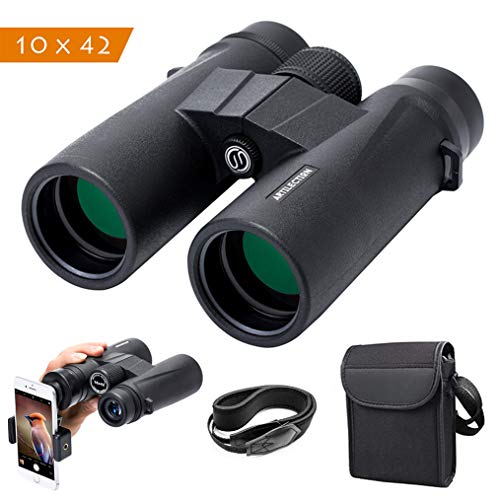 Artilection 10x42 Binoculars for Adults, HD Professional High Power Magnification Compact Wide Angle Binocular for Bird Watching, Hunting, Travel, FMC Lens with BAK4 Roof Prism