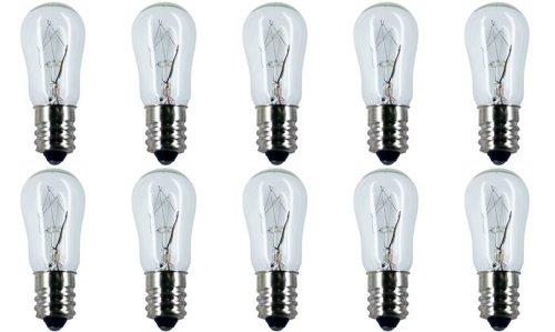 - CEC Industries #6S-6 120V Bulbs, 120 V, 6 W, E12 Base, S-6 shape (Box of 10)