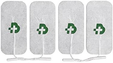 TESMED Elektroden Pads für TENS und EMS Reizstrom-Geräte mit 2mm-Stecker-Anschluss, selbstklebend, 4 Stück je 50x100mm