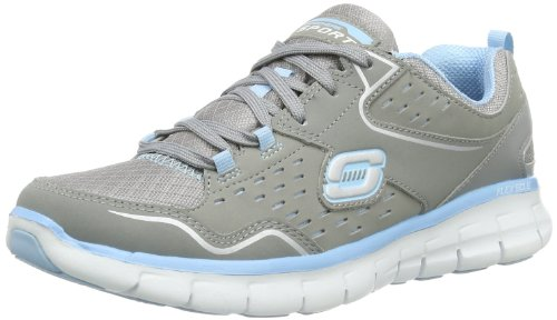 Skechers SynergyA Lister A Lister - Zapatillas para mujer, color gris, talla 38