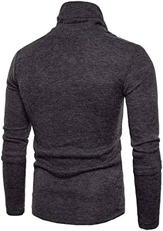 Slim Fit męska dziergana chrzcina kołnierz sweter bluza wiosna prosty styl jesień standardowy lakier długi rękaw sweter dziergany: Odzież