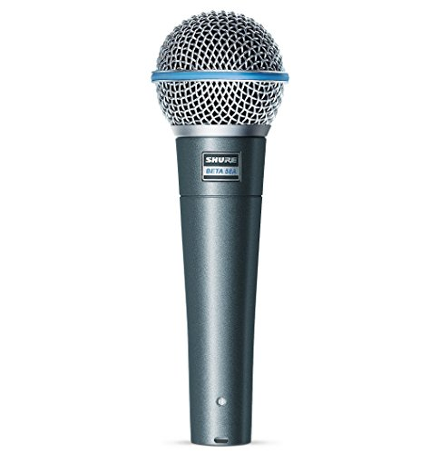 Shure BETA 58A Supercardioid Dynamic Microphone with High Output Neodymium Element for Vocal/Instrument Applications (Shure Cardioid Microphone Dynamic)