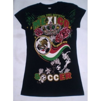 2010 SOUTH AFRICA WORLD CUP LADIES MEXICO SOCCER TSHIRT JERSEY SIZE MEDIUM - RUNS SMALL (GREAT FOR LADIES SIZE SMALL) WITH COLORFULL ()