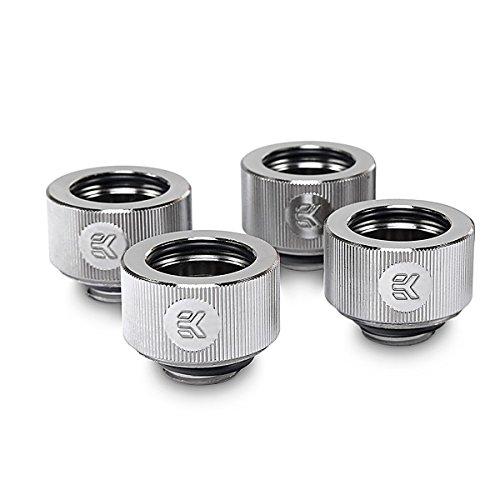 - EKWB EK-HDC Compression Fitting for EK Rigid Tubing, 16mm OD, Nickel, 4-Pack