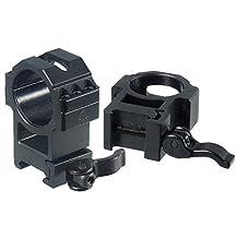 UTG Max Strength LE Grade Quick Detach Picatinny Rings, 2-Pieces, 30mm Diam, Hi Profile
