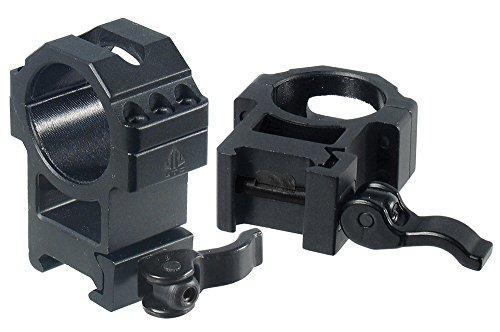 UTG 30mm/2PCs Hi Pro LE Grade Picatinny QD Rings: 25mm Wide by UTG