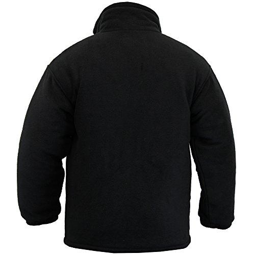 Foderato Cappotto Nero Fleecepd Giacca Polare Anti Pile Micro Uomo Imbottito In Inverno Polo Maglia Pillola Nuovo nPqBSXS
