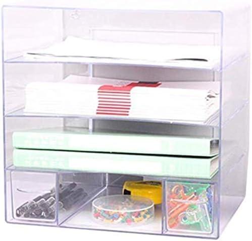 ファイルキャビネットオフィスデスクトップファイルホルダーA4プラスチックデータ内閣デスクトップキャビネットファイルストレージキャビネットストレージボックス(デザイン:4つのレイヤー)ホームオフィス用家具 ファイリングキャビネット
