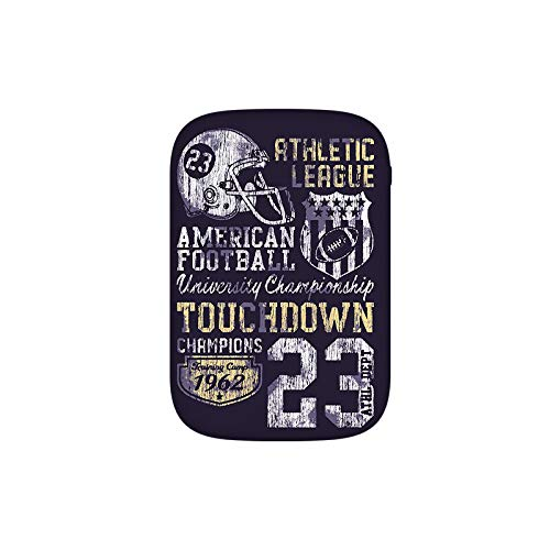 Retro Style American Football College Theme Illustration Athletic Championship Apparel Portable Charger 10000mAh Power Bank External Battery Backup Pack Fast Charger for iPhone,Samsung Galaxy and More -