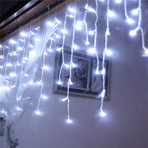 Baulody LED Fairy String Lights Battery Operate Firely Silver Coated Copper Wire Mini for Christmas Tree Hollywood Home Garden Patio Party Wedding Decorations Warm (White -Clear ()