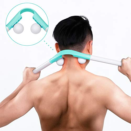 Neck Massager Manual - Pressure Point Massage Sticks Tools Therapy Massager Pressure DeepTissue Trigger Point Massager for Neck Shoulder Finger Leg Knee Home Office