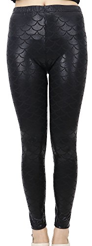Simplicity Womens Multi patterned Stretchy Leggings