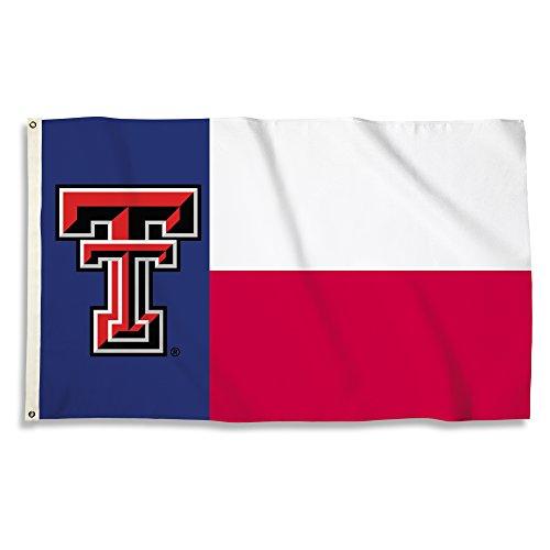 NCAA Texas Tech Red Raiders Flag with Grommets, 3' x (Texas Tech Flag)