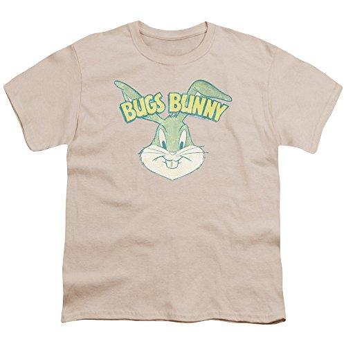 A&E Designs Kids Bugs Bunny Head Youth T-shirt, Cream, Small