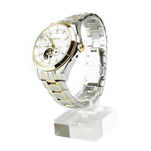 Umeshi Japanese Men's Chronograph 18k Gold Ion-Plated and Stainless Steel Watch