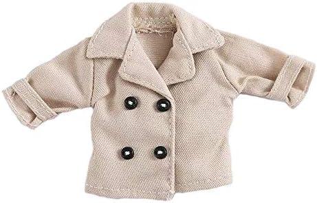 オビツ11 OB11 サイズ衣装 オビツドール 11cmボディ用 トレンチコート 3色 (ライトベージュ、ボタン無し)