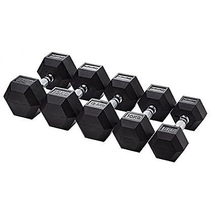 Par mancuernas hexagonales de 6 kg cada Hex Dumbell pesas Gimnasio