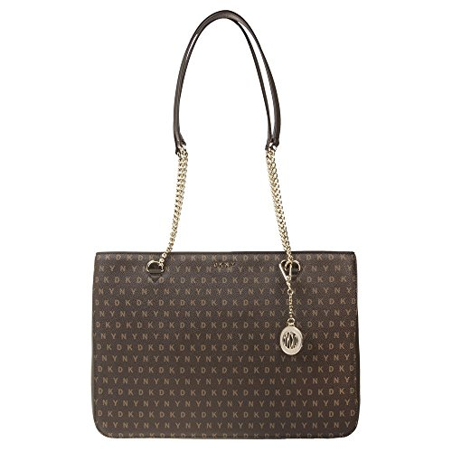 Handle Handbag Brown Marrón Chain Dkny Mujer 5q616t