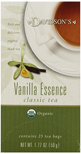 Davidson's Tea Vanilla Essence, 25-Count Tea Bags (Pack of 6)