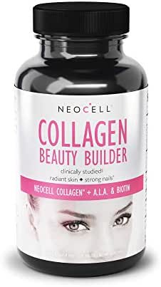 NeoCell - Collagen Beauty Builder - BioActive Collagen Type 1&3 + Alpha Lipoic Acid and Biotin Promotes Radiant and Hydrated Skin, Strong Nails; Non-GMO and Gluten-Free; 150 Tablets
