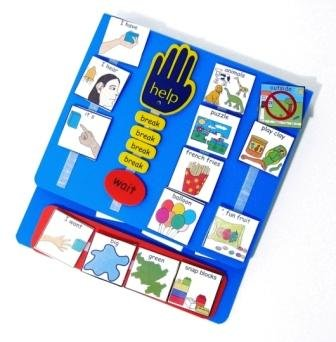pecs large communication book red amazon co uk office products