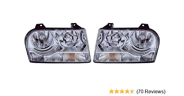 Amazon.com: Chrysler 300 (2.7L/3.5L) Replacement Headlight Assembly (Halogen) - 1-Pair: Automotive