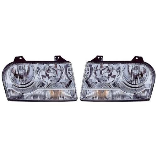 New Chrysler 300 (2.7L/3.5L) Replacement Headlight Assembly (Halogen) - 1-Pair for sale