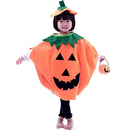 WINOMO Kids Children's Halloween Lantern Face Pumpkin Costume Clothes