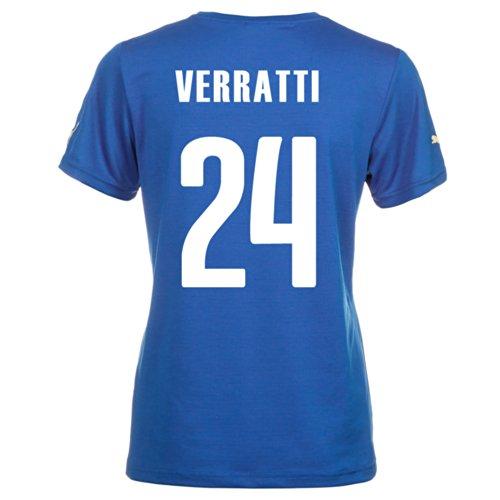 石の相互接続繊毛Puma VERRATTI #24 Italy Home Jersey World Cup 2014 (Women)/サッカーユニフォーム イタリア ホーム用 ワールドカップ2014 背番号24 ヴェッラッティ レディース