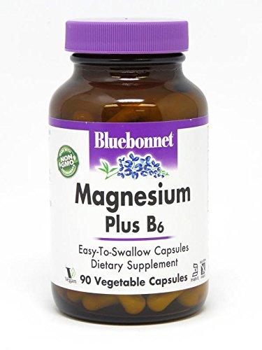 BlueBonnet Nutrition Magnesium Plus B-6 Vegetarian Capsules, 90 Count