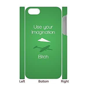 3D Use Your Imagination iPhone 4/4s Cases Hardshell For Girls, Iphone 4s Cases For Teen Girls Cheap [White]